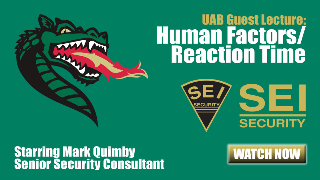 UAB Guest Lecture: Human Factors / Reaction Time
